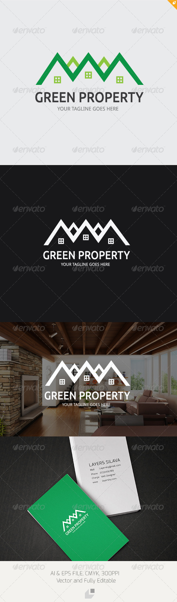 Green Property Logo - Buildings Logo Templates