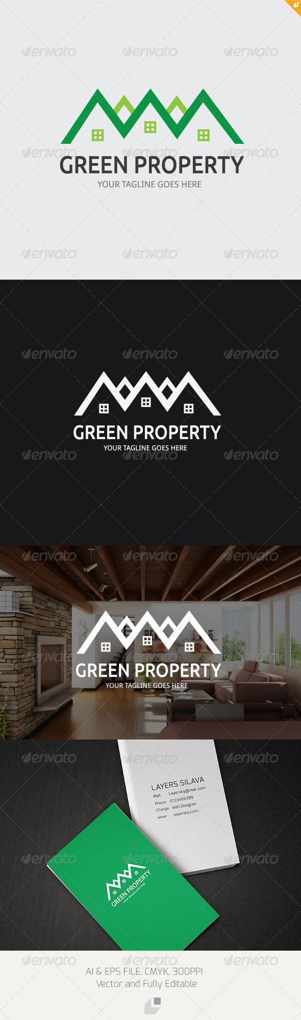 Green Property Logo - Buildings Logo Templates