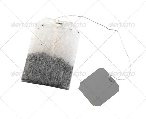 Tea bag isolated on a white background - Stock Photo - Images