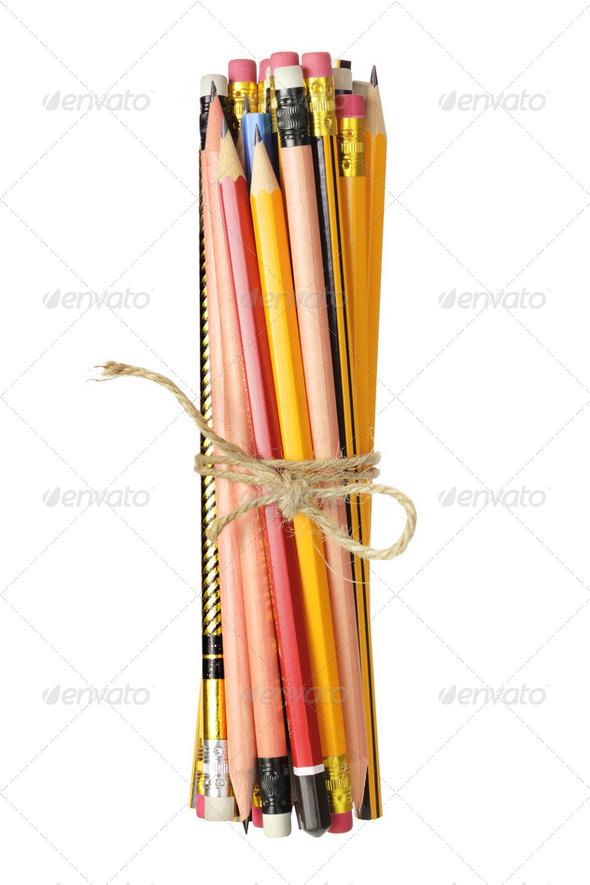 Bundle of Pencils - Stock Photo - Images