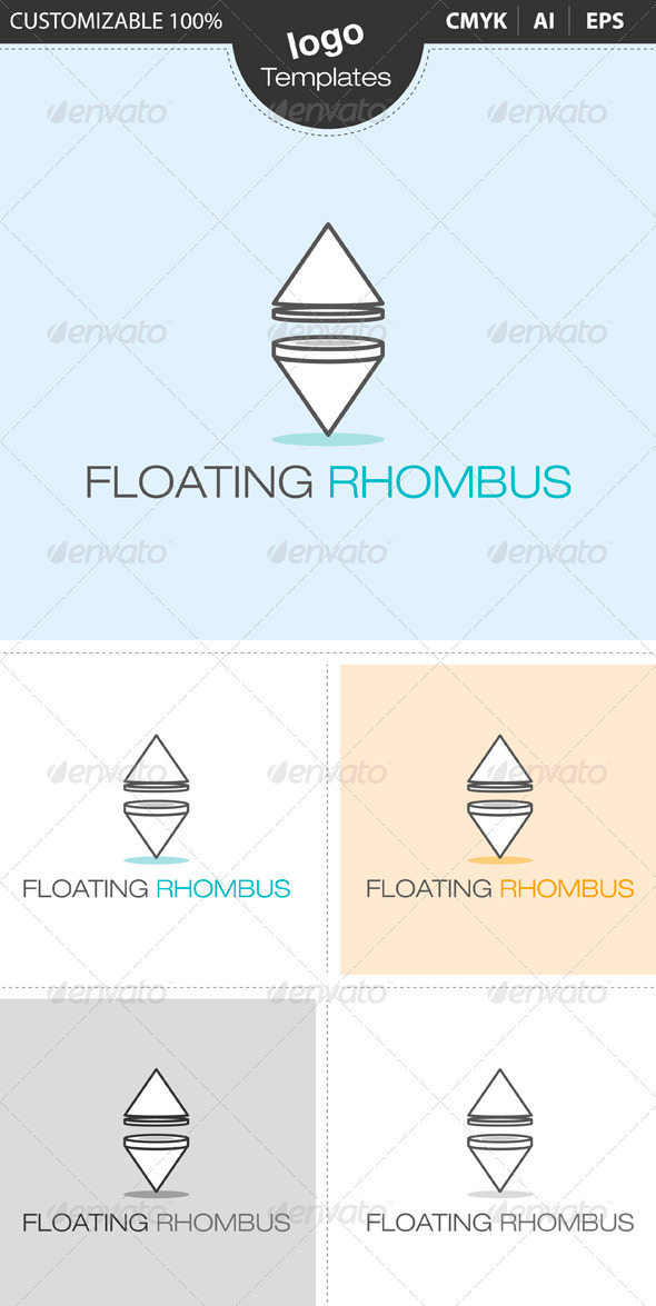 Floating Rhombus - Objects Logo Templates