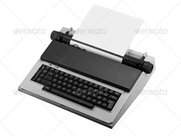 Vintage typewriter isolated - Stock Photo - Images