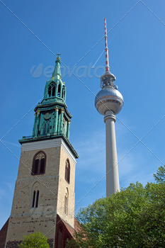 TV Tower and church