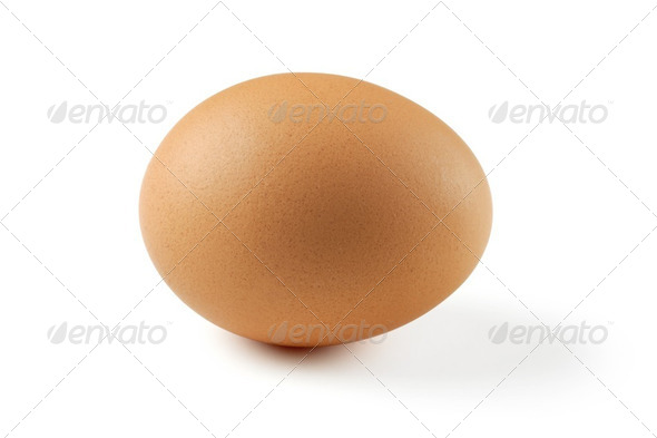 Brown egg - Stock Photo - Images