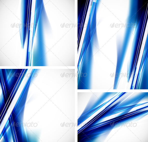 Vector Blue Lines Backgrounds - Backgrounds Decorative