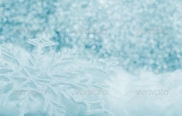 Snowflake big closeup - Stock Photo - Images