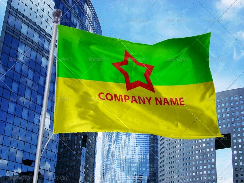 5 Photorealistic Flag Mock-Ups