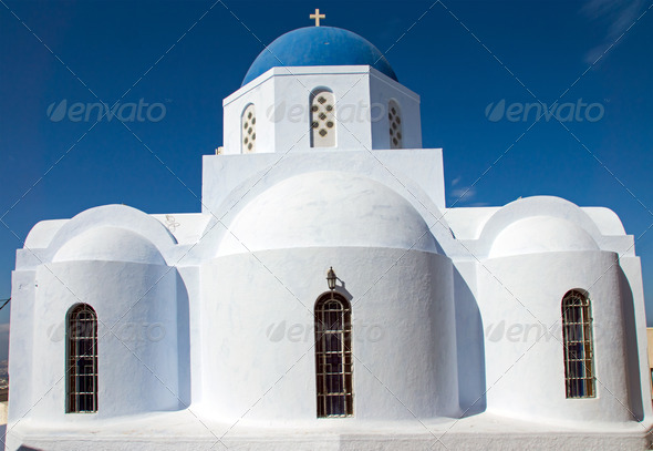 Church in Pyrgos  - Stock Photo - Images