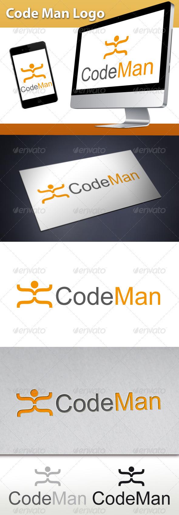 Code Man Logo - Symbols Logo Templates
