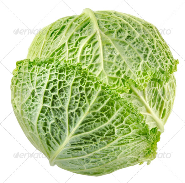 Cabbage top view - Stock Photo - Images