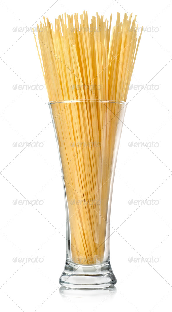 Spaghetti in a glass - Stock Photo - Images
