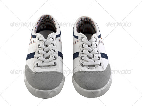 A pair of regular sneakers - Stock Photo - Images