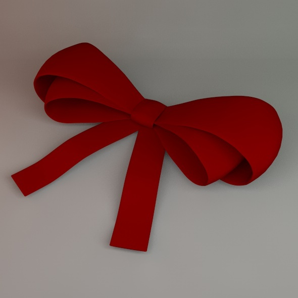 Ribbon Bow By Christinewilde 3docean