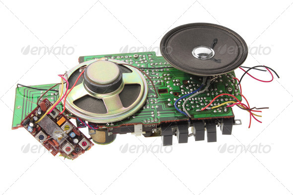 Broken Radio Cassette Player - Stock Photo - Images