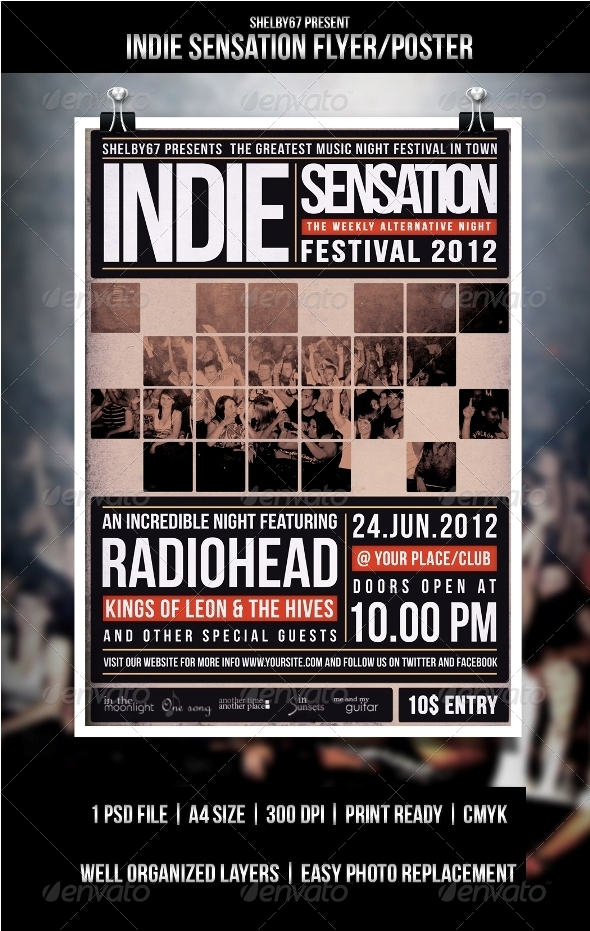 Indie Flyer/Poster Sensation - Events Flyers