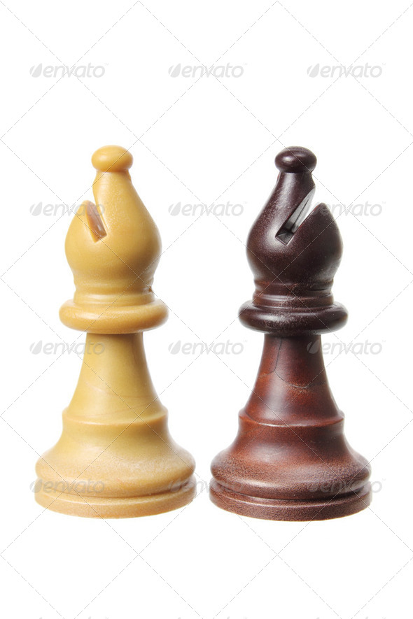 Bishop Chess Pieces - Stock Photo - Images