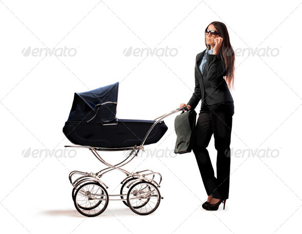 Modern mother - Stock Photo - Images