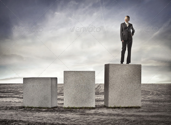 At the top - Stock Photo - Images