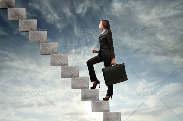 Stairway to success - Stock Photo - Images