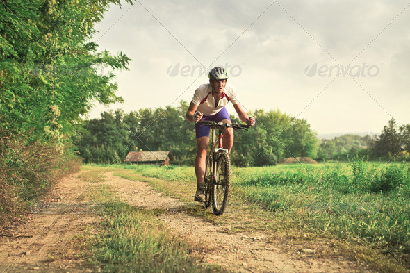 Cycle in the country - Stock Photo - Images