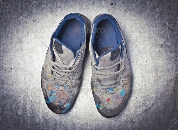 Artist's shoes - Stock Photo - Images