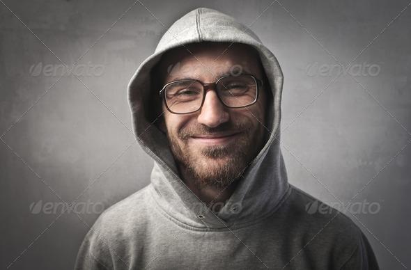Smiling man - Stock Photo - Images