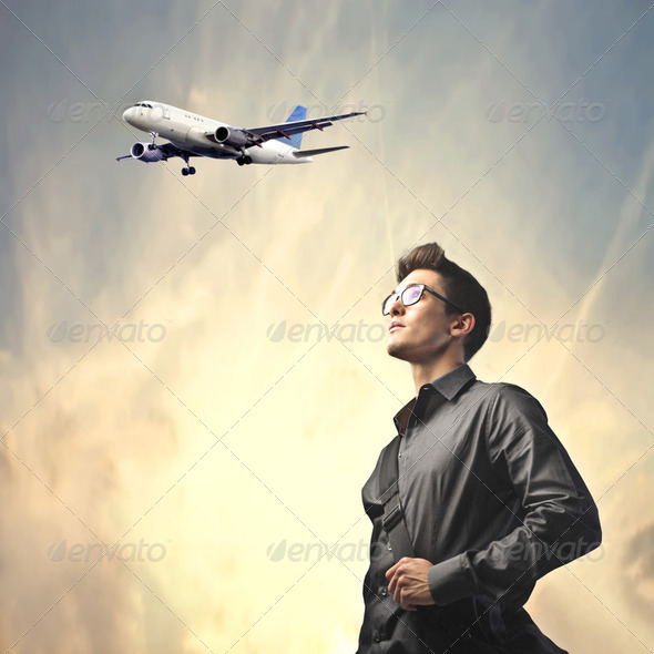 Travel by plane - Stock Photo - Images