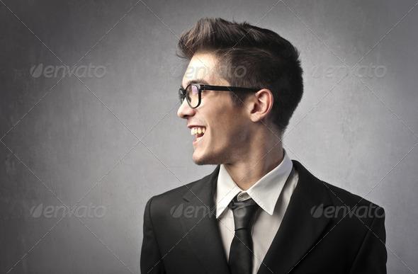 Smiling businessman - Stock Photo - Images
