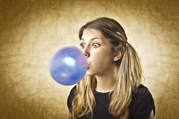 Bubble gum - Stock Photo - Images