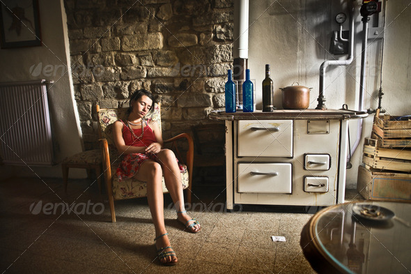 Relax at home - Stock Photo - Images