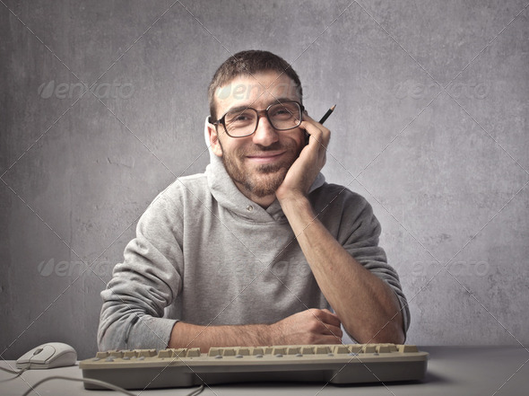 Computer programmer - Stock Photo - Images