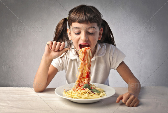 Hungry child - Stock Photo - Images