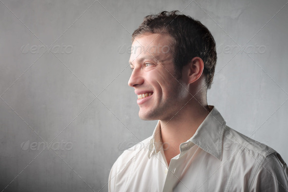 Smiling guy - Stock Photo - Images