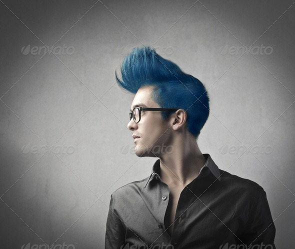 Loud hairstyle - Stock Photo - Images