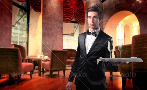 Waiter - Stock Photo - Images