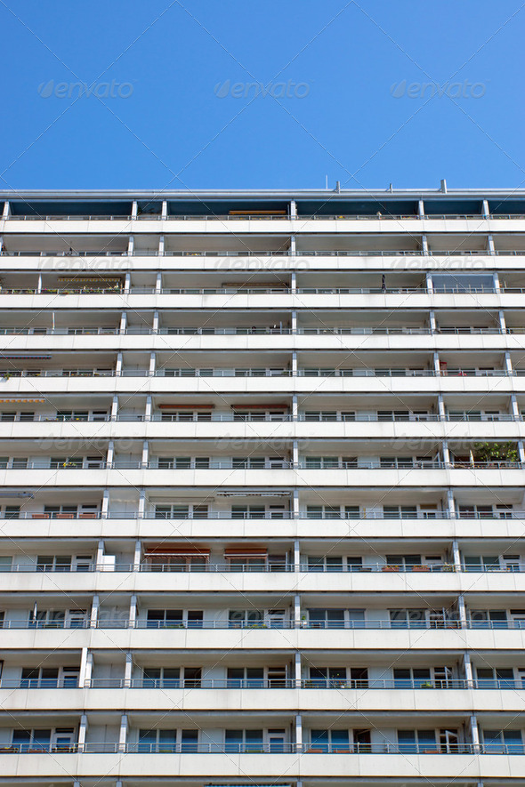 Apartment building in Berlin  - Stock Photo - Images