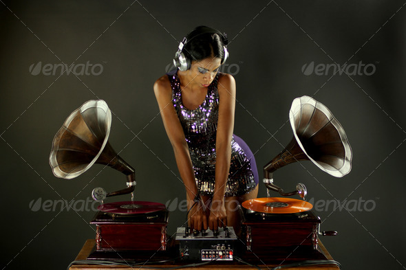 gramophone dj - Stock Photo - Images