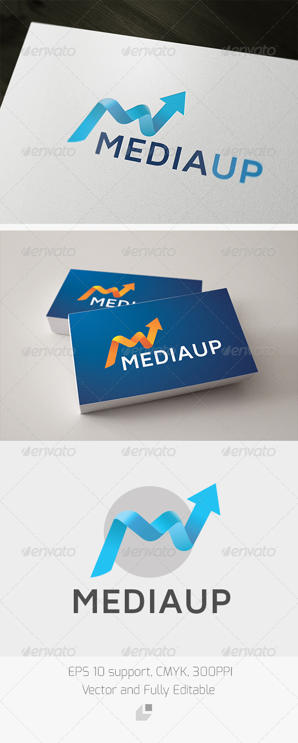 Media Up Logo - Letters Logo Templates