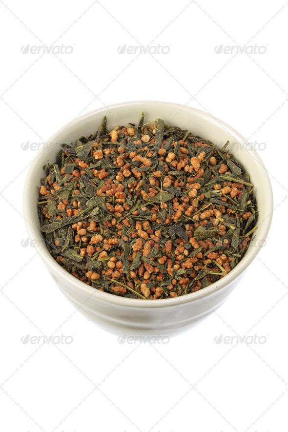 Japanese Tea Leaves - Stock Photo - Images
