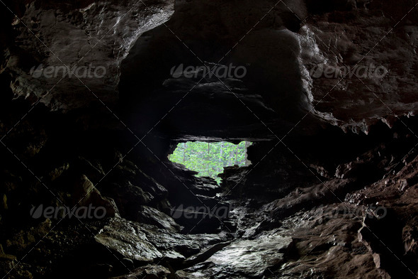 Inside A Cave - Stock Photo - Images
