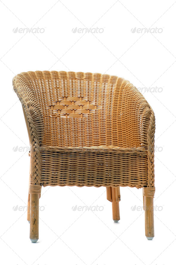 rattan chair - Stock Photo - Images