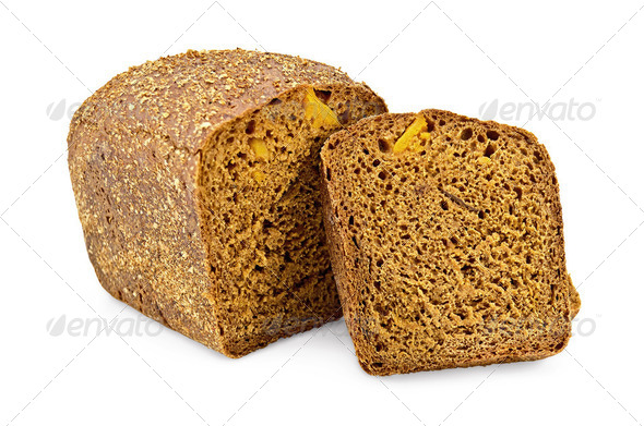 Rye bread with candied fruit - Stock Photo - Images