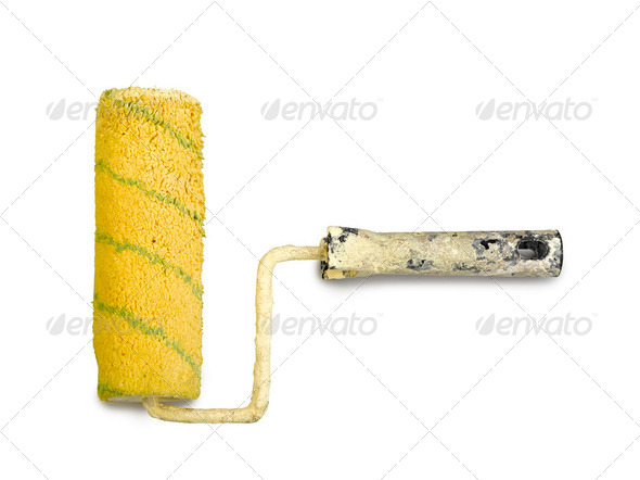 paint roller isolated - Stock Photo - Images