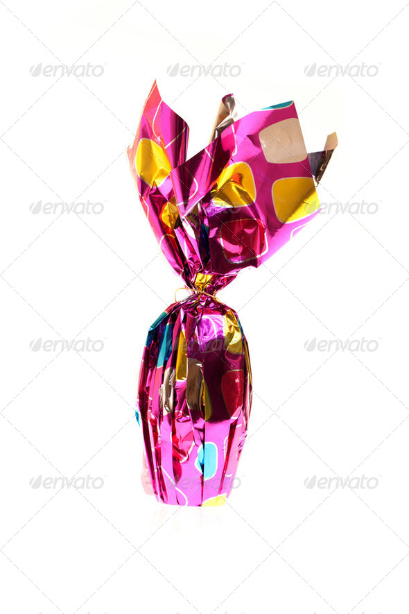 Photo: Easter Egg Wrapped In Foil - Stock Photo - Images