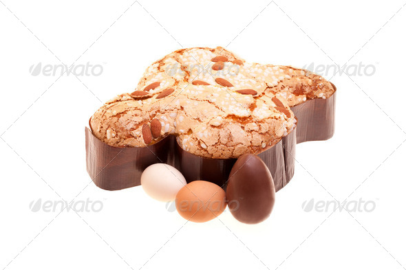 Photo: Easter Dove And Eggs - Stock Photo - Images
