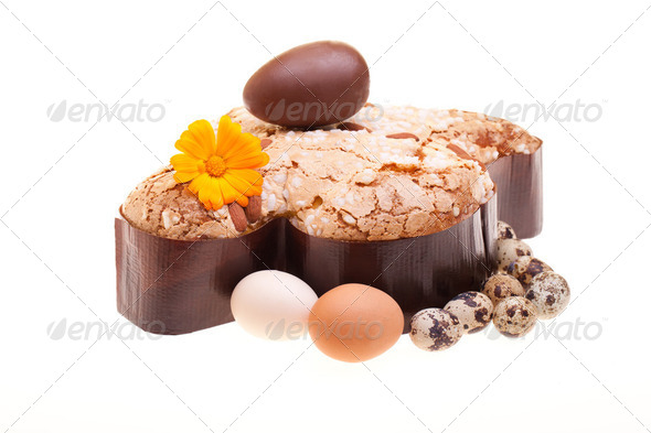 Photo: Easter Traditional Sweets - Italian Colomba - Stock Photo - Images