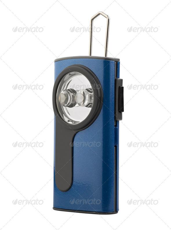 Blue Flash Light isolated - Stock Photo - Images