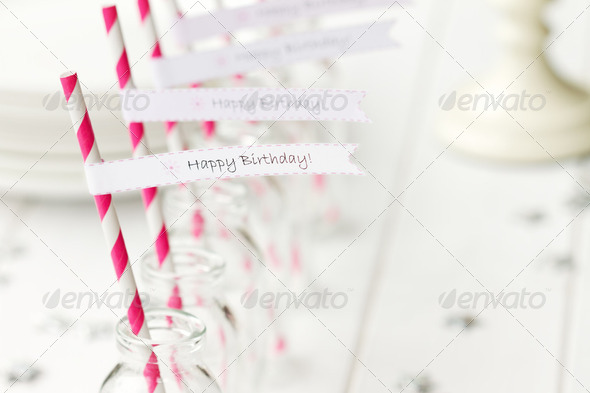 Birthday party refreshments - Stock Photo - Images
