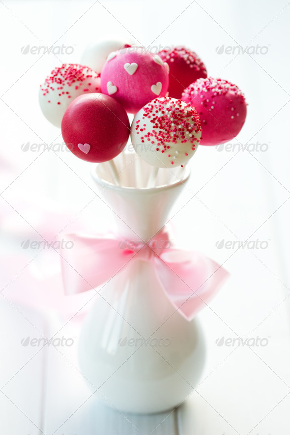 Wedding cake pops - Stock Photo - Images