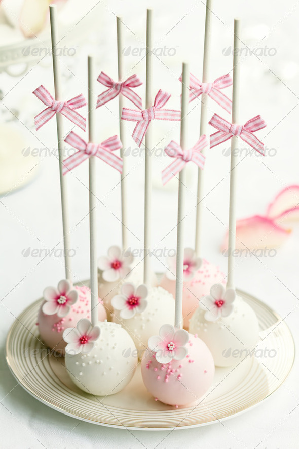 Wedding cake pops - Stock Photo - Images